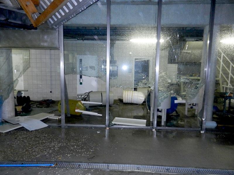 Estación das Ciencias Mariñas de Toralla tras o temporal
