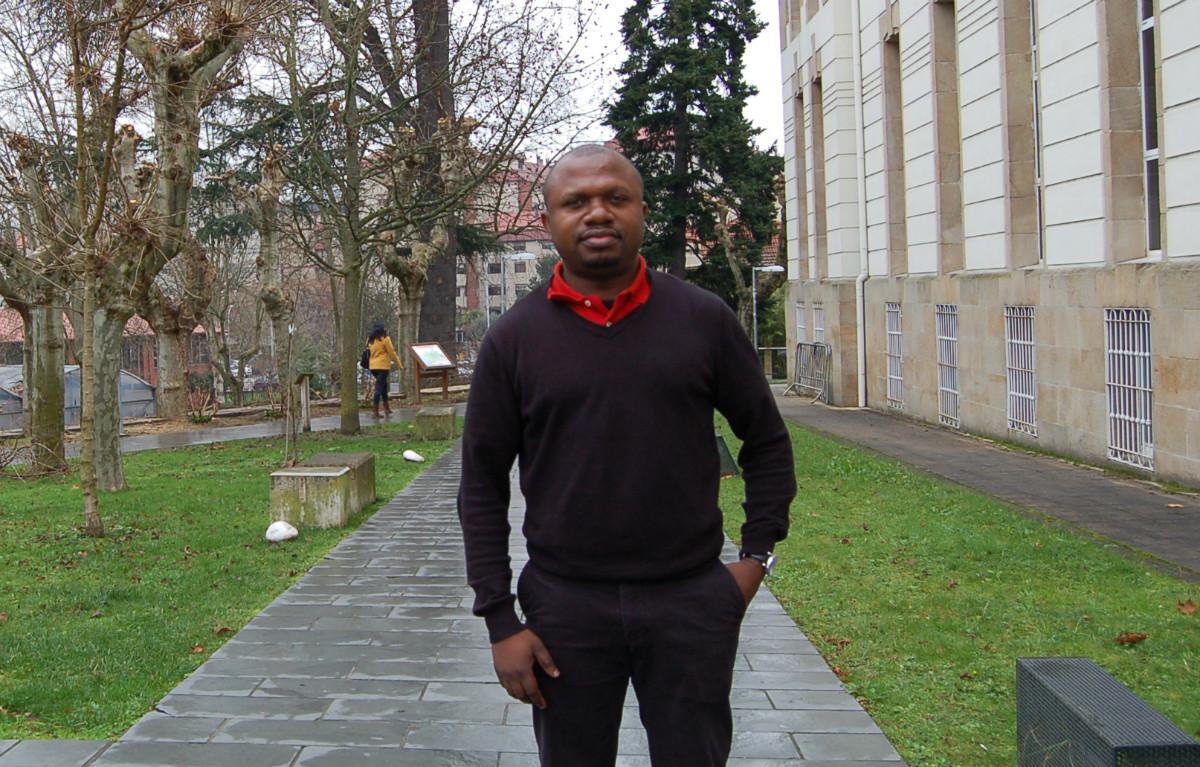 O director xeral Carlos Esono Mikó Nsing, en Ourense.