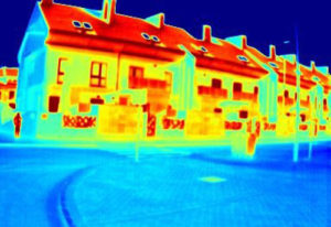 Imaxe térmica dos edificios realizada na investigación.