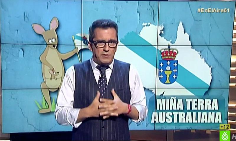 Buenafuente, durante su monólogo en el programa 'En el aire', de La Sexta.