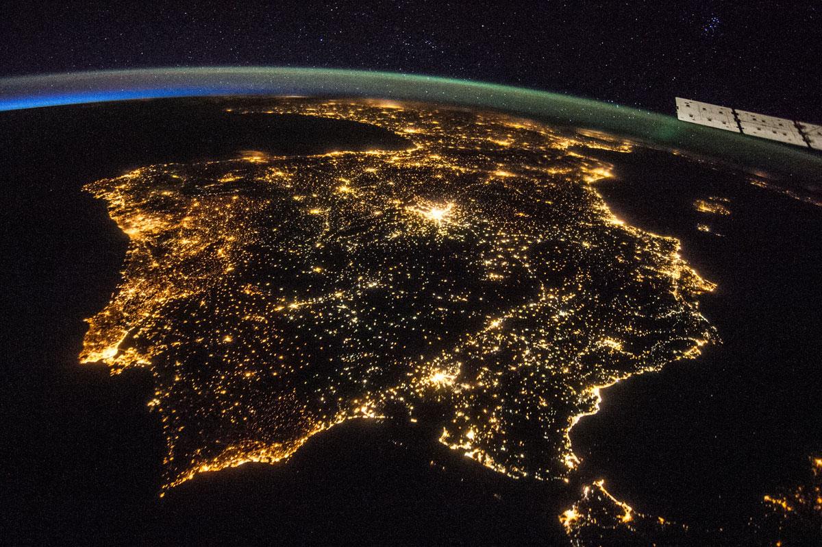 Península Ibérica desde el espacio