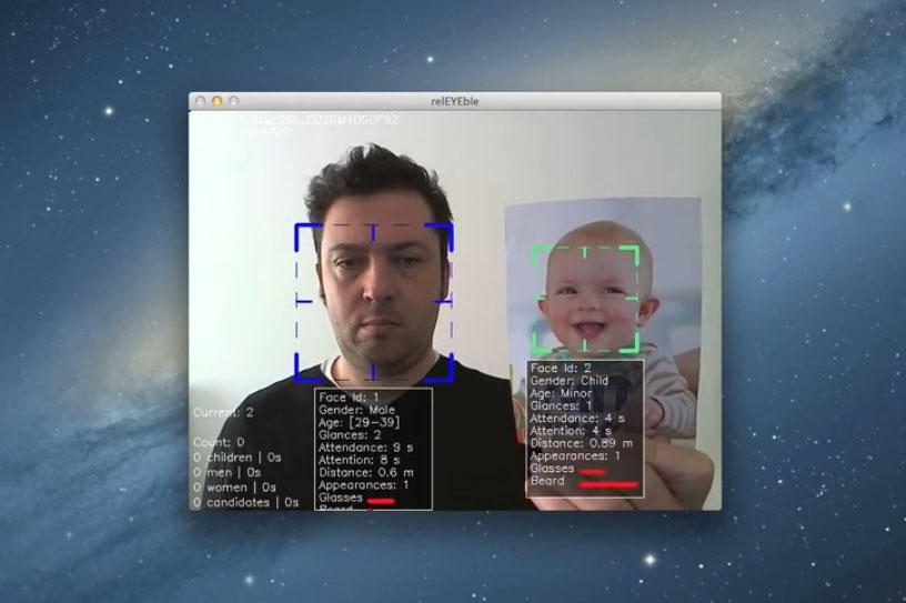O software da UVigo identifica as caras e axuda ás vendas nas tendas. Foto: DUVI.