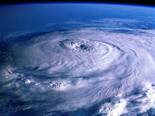 Un furacán visto desde o espazo. O 'Hortensia' chegou a Europa en 1984.