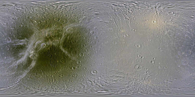 Satélite Dione de Saturno