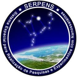 Emblema do programa Serpens da Axencia Espacial Brasileira.