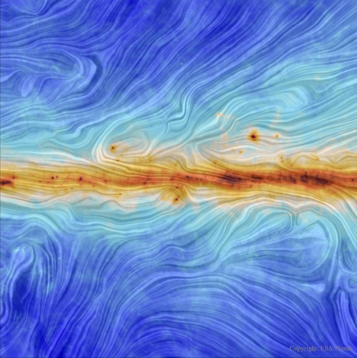 O campo magnético da nosa galaxia desde o Planck