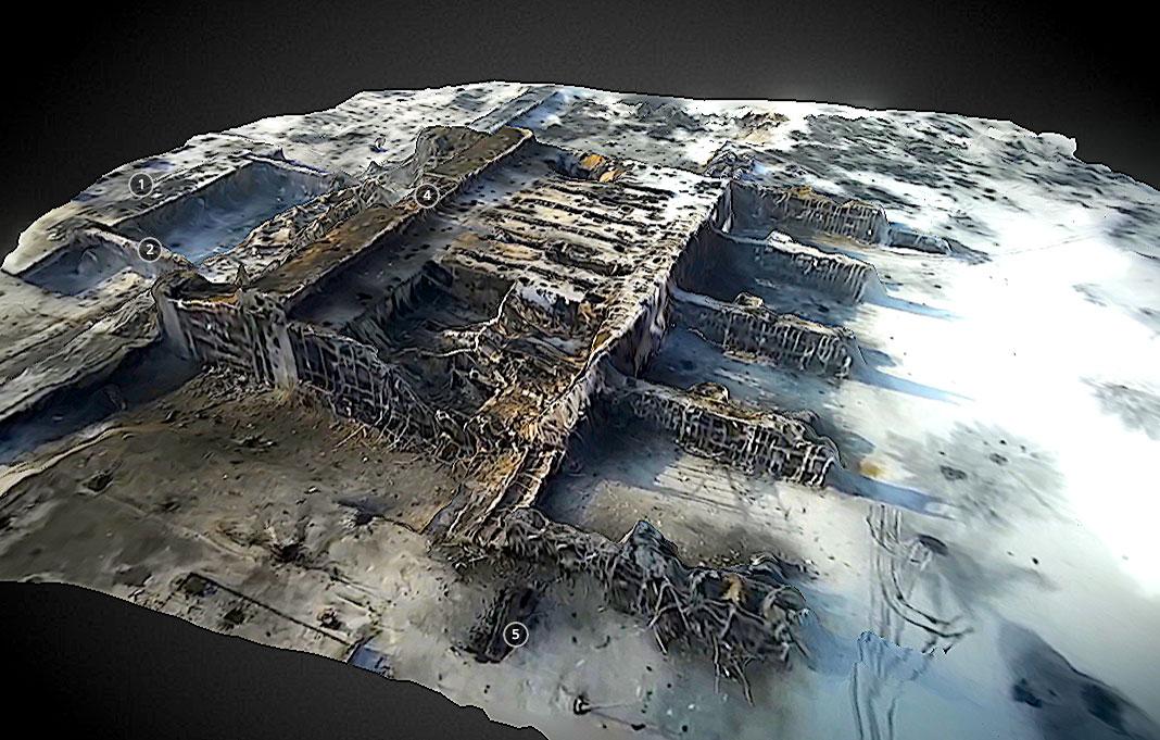 Modelo 3D do aeroporto de Donetsk