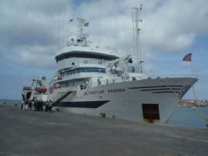 O buque noruegués Dr. Fridtjof Nansen.