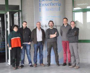 Investigadores do Grupo de Novos Materiais da UVigo.
