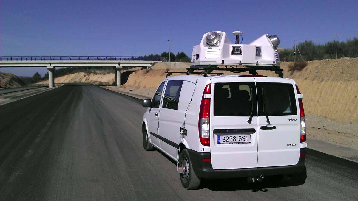 Equipo LIDAR da Universidade de Vigo que permite trazar mapas 3D.