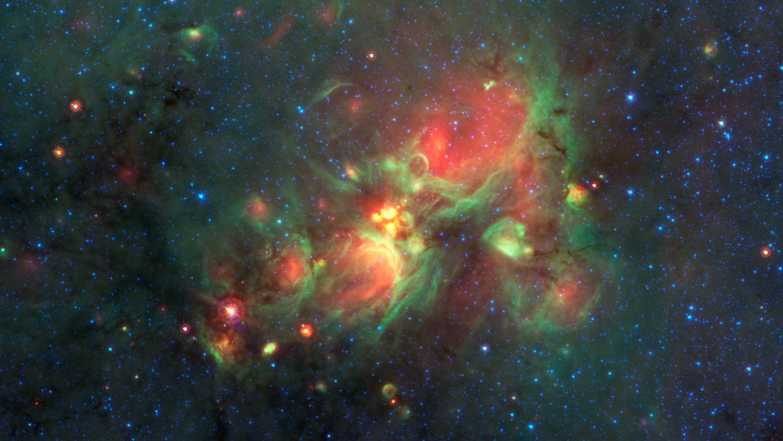 Nube cósmica de gas e po W33
