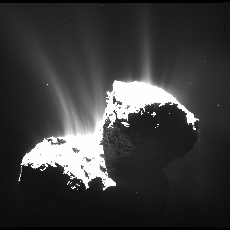 Chorros desde o cometa Churyumov-Gerasimenko