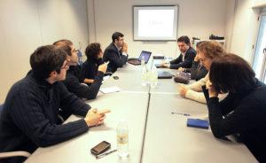 Reunión de traballo do equipo de Cilenis.
