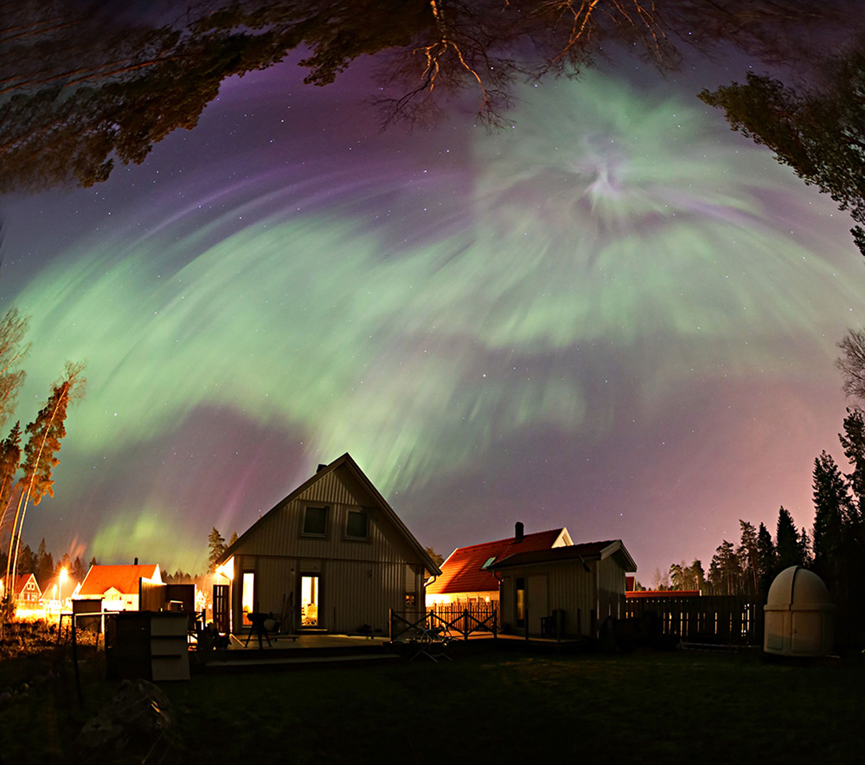 Aurora en Vallentuna (Suecia)