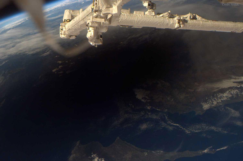 A Terra durante unha eclipse total do Sol