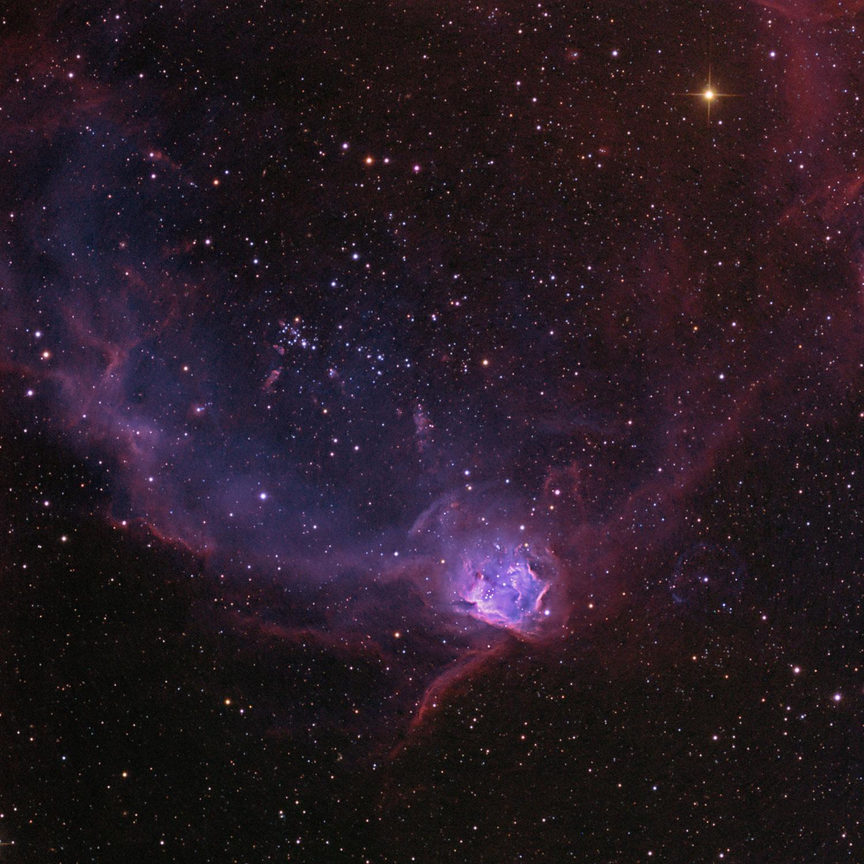 NGC 602 na nebulosa do Lagarto Voador