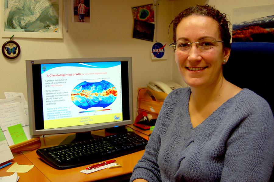 Raquel Nieto, investigadora do grupo EPhysLab da Universidade de Vigo. / Foto: DUVI.
