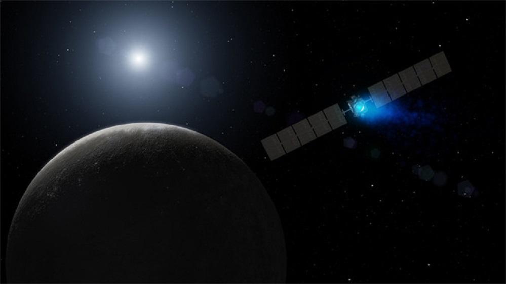 """Dawn convértese na primeira nave espacial que chega a un planeta anano. """"Vai facer historia"""", destaca Robert Mase, director do proxecto para esta misión dende o laboratorio JPL da NASA en California (EUA). """"O noso equipo está preparado e con moitas ganas de descubrir o que Ceres nos ten reservado"""". Foto: NASA JPL."""