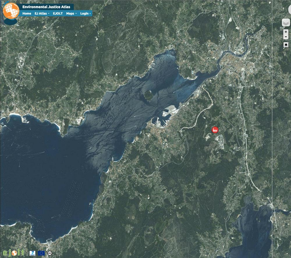 Ría de Pontevedra no Atlas Global de Xustiza Ambiental