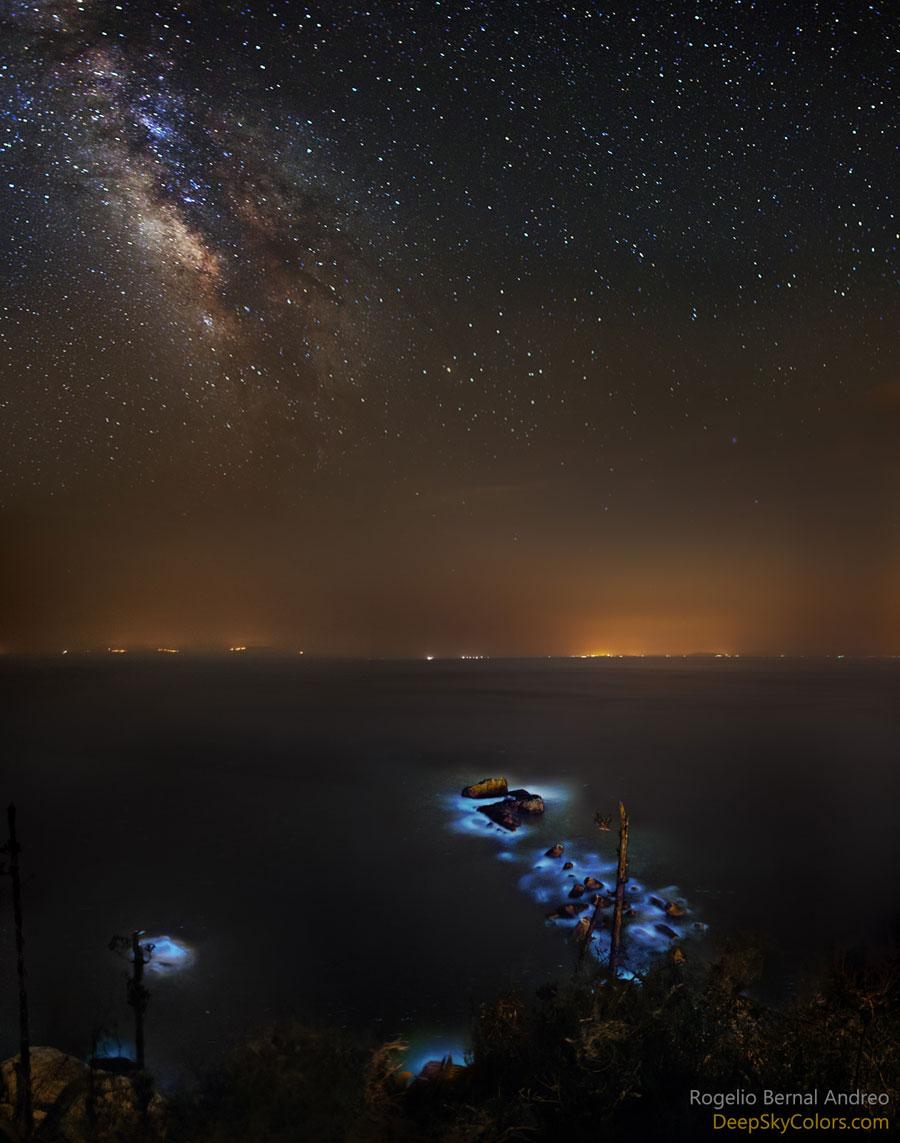 Bágoas azuis e a Vía Láctea