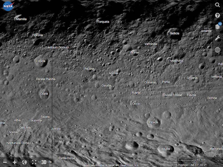 Vesta Trek: un modelo dixital do asteroide Vesta