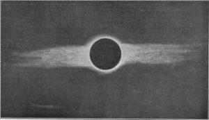Imaxe da eclipse de 1912 tomada por Comas Solá.