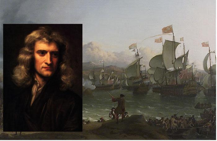 Isaac Newton contabilizou o tesouro de Vigo na Torre de Londres como Director da Moeda.