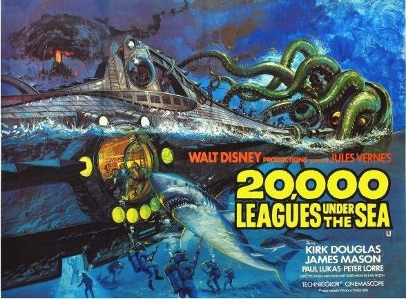 Xulio Verne recolle a figura da lura xigante na súa novela '20.000 leguas baixo dos mares', feita película en 1957.