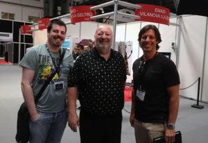 Sergio y Fernando Prieto, con Al Lowe