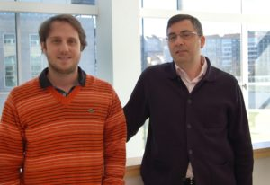 O doutorando Thadeu Gasparetto e o director da tese, Ángel Barajas.
