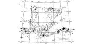 Localización de terremotos na península Ibérica para a investigación.