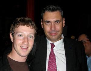 Enrique Dans, con Mark Zuckerberg, fundador de Facebook