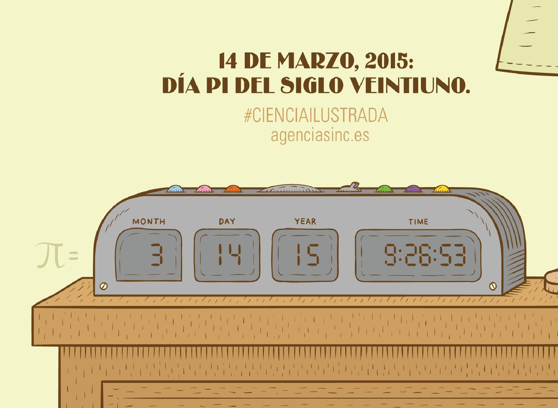 Ilustración realizada pola Agencia Sinc sobre o Día de Pi.
