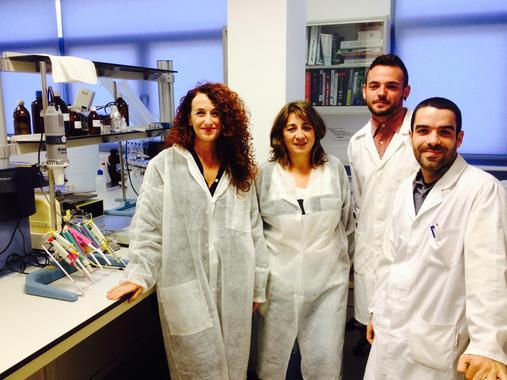 O equipo de investigación da Universidade de Almería.