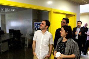Os enxeñeiros fundadores de Situm Technologies, na presentación da empresa.