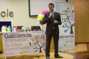 O director da Axencia Galega de Innovación, Manuel Varela, na presentación do aniversario de Galiciencia.
