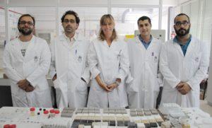 Mosquera, xunto co equipo da Universidade de Cádiz.