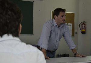 O enxeñeiro Vicente Quirós, especialista en explosivos.