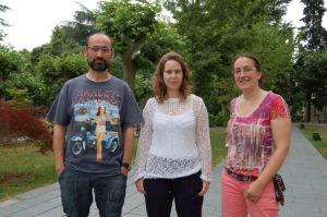 Luis Gimeno, Marta Vázquez e Raquel Nieto, de Ephyslab.