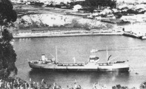 Cargueiro Max Albrecht, que daba servizo aos submarinos nazis en Ferrol.