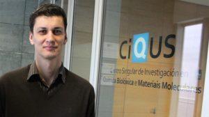 Moisés Gulías, galardoado na categoría de novos investigadores.