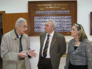 Jonh Nash co matemático Juan Viaño, na súa visita.