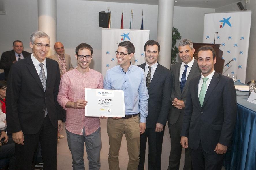 A empresa Situm recibiu o premio do conselleiro Francisco Conde e Arthur Benhamou, de la Caixa.