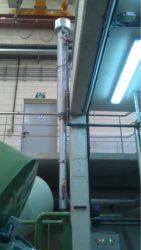 Tubo de precipitación de estruvita na depuradora de Guillarei.