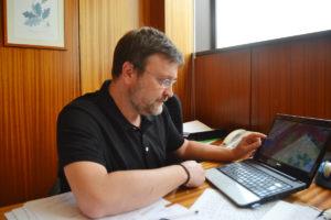 O investigador de Forestais da UVigo Juan Picos.