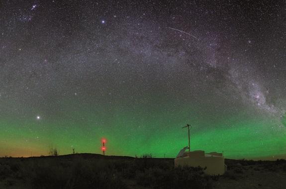 Observatorio Pierre Auger de detección de raios cósmicos. Foto: Steven Saffi/Pierre Auger Collaboration