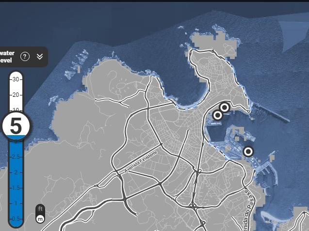 A Coruña perdería o seu porto e a praia de Riazor.