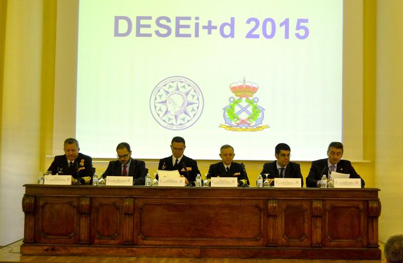 Inauguración do congreso na Escola Naval Militar de Marín.