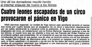A nova do suceso en Vigo foi primeira páxina en toda España.