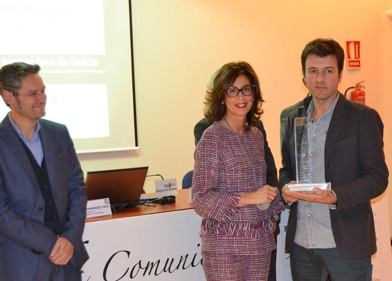 Pablo López, codirector de GCiencia, recibiu o premio no Foro da Comunicación de Galicia.